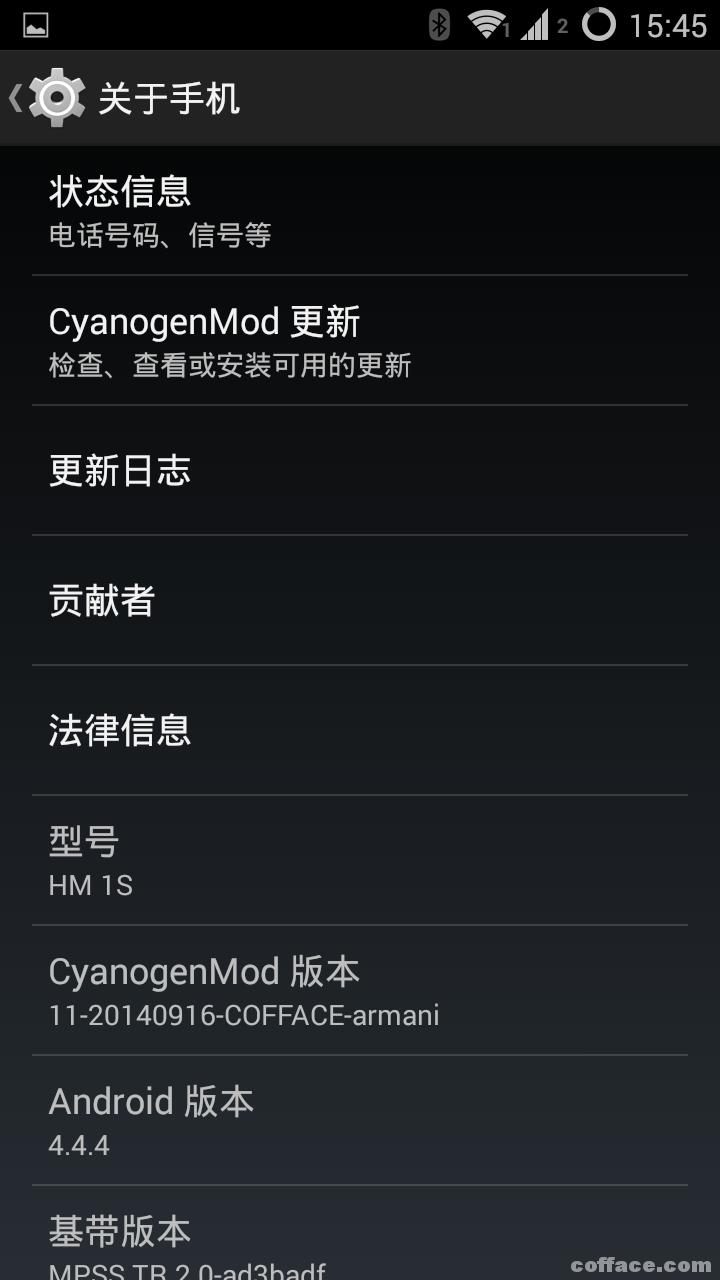 华为3c中文recovery_红米1S电信版/联通版 4.4.4 cm11.0 ROM发布 更新20140920-Cofface Blog